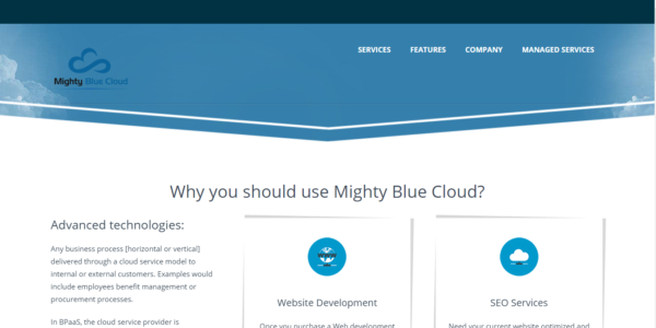 Might Blue Cloud